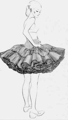 Falso de cueca, tutú, enagua. Guangzhou, Skirt Fashion, Girly Things, Cloths, Retro, Sewing, Womens Fashion, Skirts, Vintage
