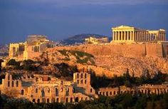 Athens, Greece.....We saw this every night from the Hotel Titania.