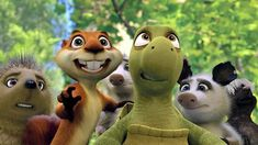 In Over the Hedge when the characters first see the hedge Hammy suggests they name it Steve. Hammy was voiced by Steve Carrell. Good Animated Movies, Good Movies, Funny Character, Character Design, Dreamworks Animation Skg, Animation Movies, Hollywood Music, Recent Movies, Childhood Movies