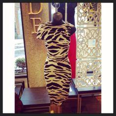 @Tracy Reese zebra print dress