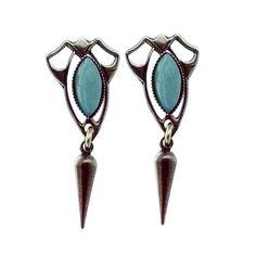 Jan Michaels Amazonite Marquis Pointed Drop Earrings