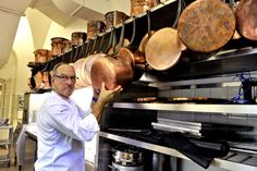 The head Chef at the Elysées Palace, Bernard Vaussion, who has run the kitchen for every president from Georges Pompidou to François Hollande, is hanging up his toque and retiring.   Bernard Vaussion, shown here, in the vast kitchens of the Élysées Palace, with its collection of copper pots dating back to the Second French Empire, the Imperial Bonapartist regime of Napoleon III from 1852 to 1870, between the Second Republic and the Third Republic.