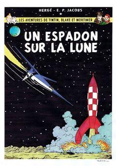 classé dans Objectif Lune & On a marché sur la lune.      hommage-a-herge-et-edgar-p-jacobs-tintin-et-blake-mortimer-par-neidhardt