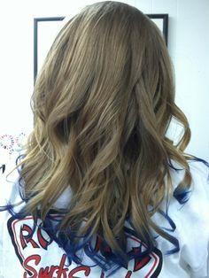Blue tips/hair