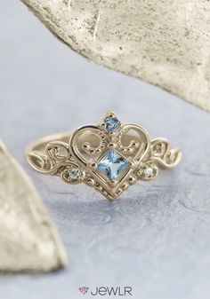 35b3cefcc Design your own Fairytale Princess Ring! Choose your metal, birthstones and  engravings. Free