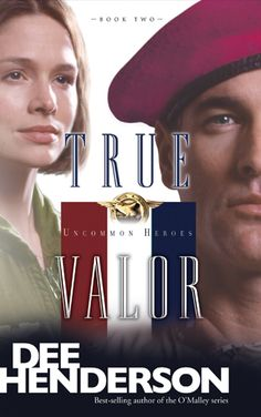 True Valor by Dee Henderson. Heroes get a new meaning when you see inside their lives. Gracie is a Navy Pilot; Bruce works Air Force Pararescue. With dangerous jobs—often away from home—they write love letters. When Gracie is shot down behind enemy lines, Bruce has one mission: get her out alive.