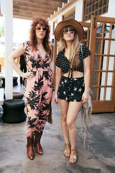 Festival Style: Tips From The Chicest Attendees: Julie Edwards Pirrone and Lindsey Troy - Musicians, Deap Vally