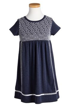 Tucker + Tate Embroidered Short Sleeve Dress (Toddler Girls, Little Girls & Big Girls) available at #Nordstrom