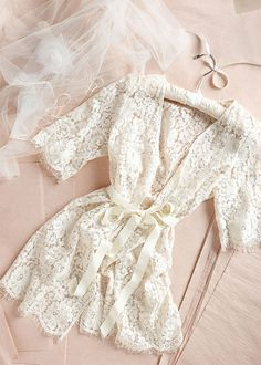 Lace robe for Bride when getting ready. I love the lace robe to get ready in! Wedding Night, Our Wedding, Dream Wedding, Lace Wedding, Wedding Ceremony, Wedding Morning, Wedding Bride, Wedding Stuff, French Wedding