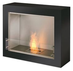 $4995    Contemporary and environmentally friendly, our EcoSmart fireplaces make it safe and easy to bring an open flame to any space. Because each ventless fireplace uses bioethanol, a renewable liquid fuel that burns cleanly and efficiently, you get cozy warmth without smoke, sparks or mess.  Rectangular in shape, the Synergy Aspect looks great in any exterior location. The fireplace features two subtle handles to allow for easy movement.