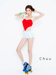 Dare to look different this summer and wear this swimsuit with striped pattern. With frilly straps, sweetheart neck, a bodice that looks like a heart shape because of the side cut-outs, boyshort cut and big striped pattern. Wear as is.