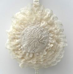 Vintage Inspired, Bridal Bag, Wedding Bag, Bridesmaid, Lace, Beads, Cream £40.00