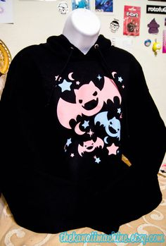Kawaii Fairy Kei Pastel Bats Womens Halloween by thekawaiimachine, $40.00