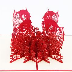 Chinese Happy New Year 3D Fish Personalized Handmade 3D Greeting Cards Free Shipping