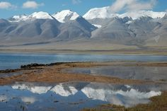 Lake Manasarovar,TIbet. Foot of Mount Kailash. Holiest lake - important to Hindus and Buddhists.