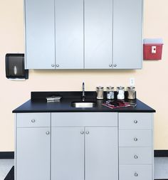 Patient Room Cabinets made with King MediGrade®, The Antimicrobial Polymer Building Sheet for Healthcare Applications.
