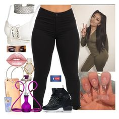 // by melaninmonroee on Polyvore featuring polyvore mode style MICHAEL Michael Kors Goldgenie Lime Crime Victoria's Secret Puma Urban Decay fashion clothing