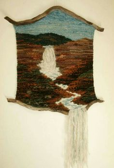 Fiber art - I love the way this one runs past an edge, and naturally incorporates the properties of the fiber. Weaving Textiles, Weaving Art, Weaving Patterns, Tapestry Weaving, Loom Weaving, Hand Weaving, Peg Loom, Textile Fiber Art, Weaving Projects