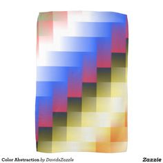 Color Abstraction hand Towel  This design is available on many more products! Type the name of this design in the search bar on my Zazzle products page to see them all!  #art #abstract #geometric #color #square #line #blur #motion #digital #red #blue #yellow #black #white #green #orange #geometry #abstraction #nonobjective #print #all #over #buy #sale #forsale #zazzle #hand #towel #home #decor
