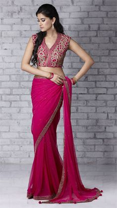 Beautiful Pink #saree #sari #blouse #indian #outfit #shaadi #bridal #fashion #style #desi #designer #wedding #gorgeous #beautiful
