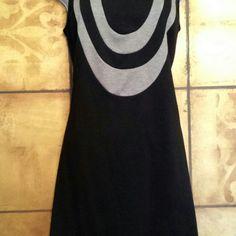Black & Grey Dress Black and Grey Dress fabric...70% Polyester, 26%Rayon and 4 Spandex Merona Dresses