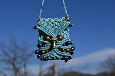 Macrame Owl mini-bag necklace /Macrame Owl Pendant by Macramedamare on Etsy