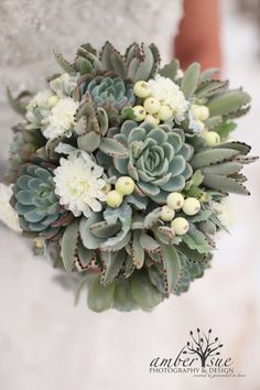 The Hottest Wedding Trend: 60 Succulent Wedding Bouquets - Weddingomania