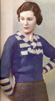 Knit Vintage Sweater (1933)