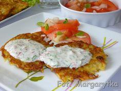 Kulinarne Szaleństwa Margarytki: Placki ziemniaczane z młodych ziemniaków z sosem jogurtowym