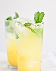 ...Coconut Mango Mojito    INGREDIENTS:     6-8 fresh mint leaves     2 1/2 ounces of mint simple syrup     1 ounce of coconut rum     1 1/2 ounces of club soda     1-2 ounces of mango puree     the juice of one lime