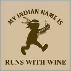 Runs with wine!