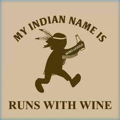 Runs with wine!