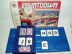 "Rare Vintage ""Countdown"" game by MB games 1986."