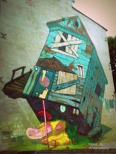 MURAL ul Nawrot Poland, Street Art, Painting, Painting Art, Paintings, Painted Canvas, Drawings