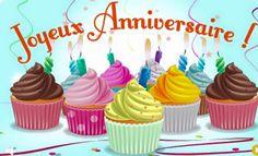 Images pour blogs et Facebook: Cup cakes d'anniversaire
