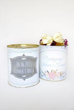 Słodka puszka na podziękowanie gościom weselnym http://3dpoint.pl/?page_id=15188