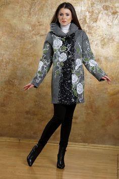 Верхняя одежда ручной работы. Пальто демисезонное Робкая весна. Авторский трикотаж Курган-Каприз (Ludalang). Интернет-магазин Ярмарка Мастеров.