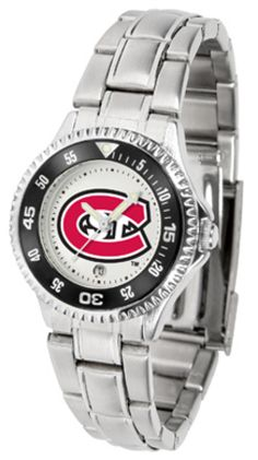 St. Cloud State Huskies Competitor Ladies Watch with Steel Band: Showcase the hottest design… #SportingGoods #SportsJerseys #SportsEquipment