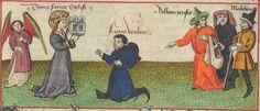 « Le Champion des Dames, » par « MARTIN LE FRANC, prevost de l'église de Lausane. » (1440).  Date d'édition :  1401-1500  Français 12476  Folio 59r