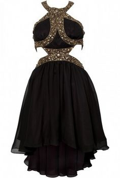 Beaded Cut Out Dress by OPULENCE ENGLAND @girlmeetsdress