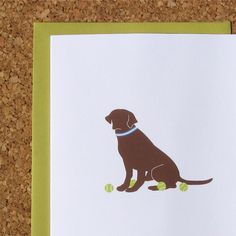 Chocolate lab cards