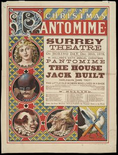 The Grand Christmas Pantomime, poster, unknown artist, 1878