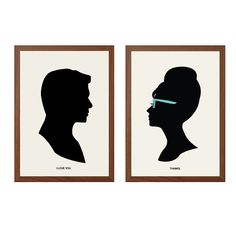 BREAKFAST At TIFFANY'S | I Love You Poster :  Holly Golightly Paul Varjak Modern Illustration Movie Series Retro Art Wall Decor