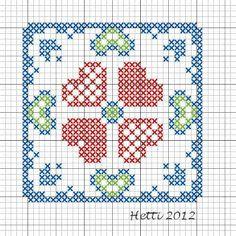 Creative Workshops from Hetti: SAL Delfts Blauwe Tegels,Deel 2 - SAL Delft Blue Tiles, Part 2., Tile 2 (version 2)