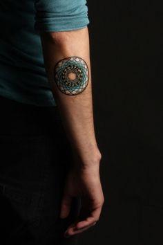 Mandala Tattoo- In blue