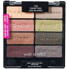 Wet n Wild Color Icon Eyeshadow Collection 738 Comfort Zone ❤ liked on Polyvore featuring beauty products, makeup, eye makeup, eyeshadow and palette eyeshadow