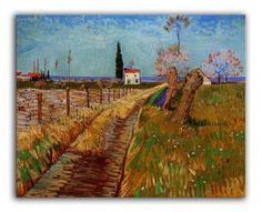 Art Print: Path Through a Field with Willows Poster by Vincent van Gogh : Paul Gauguin, Beach Landscape, Vincent Van Gogh, Impressionist, Find Art, Framed Artwork, Paths, Scenery, Art Prints