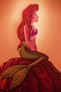 Ariel painting at the Ariel ride in Magic Kingdom! So pretty! :)