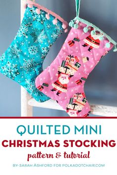 to make a Quilted Mini Christmas stocking, a free Christmas stocking tutorial and pattern.How to make a Quilted Mini Christmas stocking, a free Christmas stocking tutorial and pattern. Machine setup for Free Motion stitching, in 10 easy steps Diy Christmas Star, Quilted Christmas Stockings, Christmas Stocking Pattern, Christmas Sewing, Christmas Ideas, Christmas Crafts, Christmas Fabric, Christmas Things, Green Christmas