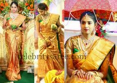 Bride in Designer Blouse   Saree Blouse Patterns